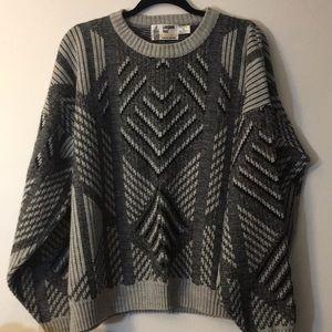 Vintage retro london fog grandpa sweater